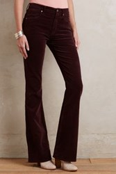 Anthropologie Citizens Of Humanity Fleetwood Velvet Flare Jeans Barolo 26 Pants