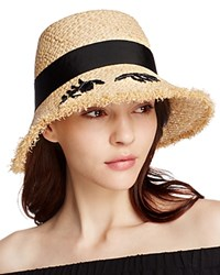 Kate Spade New York Winking Cloche Hat Natural Black