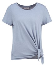 Minimum Myriam Basic Tshirt Faded Denim Blue