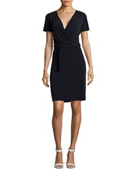 T Tahari Trish Surplice Sheath Dress Navy