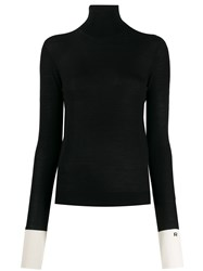 Rochas Knitted Turtle Neck Top Black