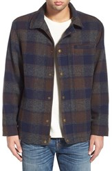 Men's Pendleton 'Timberline' Jacket Navy Grey Brown Plaid