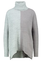 Khujo Amodia Jumper Misty Blue Mix Mint