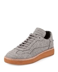 Alexander Wang Eden Felt Low Top Sneaker Heather Gray Heather Grey
