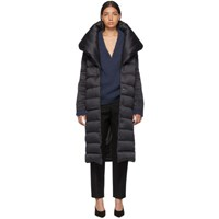 Herno Black Down Long Bonbon Coat