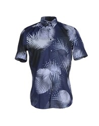 Faconnable Shirts Shirts Men Slate Blue
