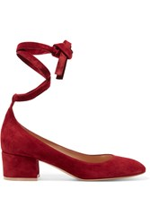 Gianvito Rossi Suede Pumps Red