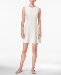 Maison Jules Metallic Fit And Flare Dress Only At Macy's Egret