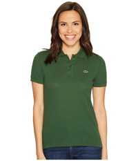 Lacoste Short Sleeve Classic Fit Pique Polo Shirt Green Women's Short Sleeve Knit