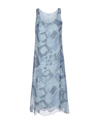 Angela Mele Milano 3 4 Length Dresses Slate Blue