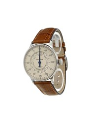 Meistersinger 'Pangaea' Analog Watch Stainless Steel