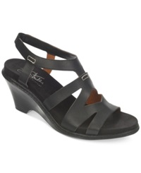 Life Stride Persephone Wedge Sandals Women's Shoes Black