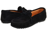 Minnetonka Classic Moc Black Suede Moccasin Shoes