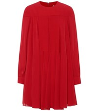 Valentino Silk Crepe Minidress Red