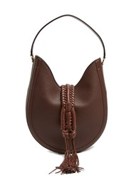 Altuzarra Ghianda Small Leather Shoulder Bag Dark Brown