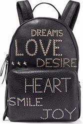Red Valentino Studded Textured Leather Backpack Black