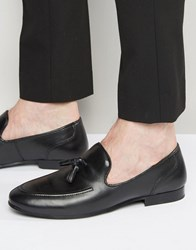 Red Tape Tassel Loafers In Black Leather