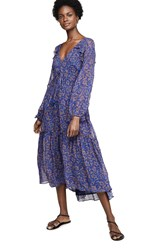 Figue Alessia Dress Shambala Floral Yves Blue