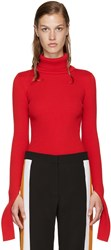 Jacquemus Red Ribbed Turtleneck