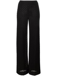 Missoni Zig Zag Pattern Trousers Black