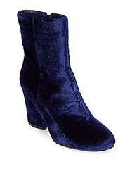 Saks Fifth Avenue Nita Velvet Booties Navy