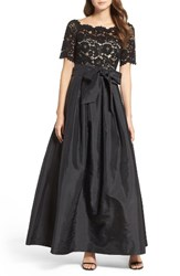Vince Camuto Women's Lace And Taffeta Ballgown