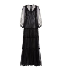 Pinko Lace Tiered Maxi Dress Female Black