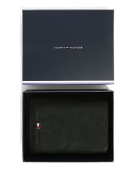 Tommy Hilfiger Black Johnson Leather Wallet