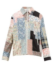 Loewe Paisley And Floral Patchwork Cotton Blend Jacket Multi