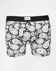 Happy Socks Paisley Woven Trunks Black