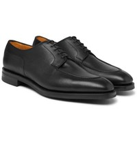 Edward Green Dover Textured Leather Derby Shoes Black