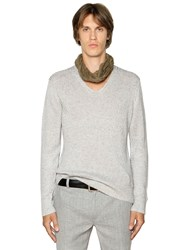 John Varvatos Linen And Silk Knit Sweater