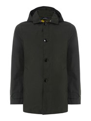 Scotch And Soda Men's Trench Coat In Bonded Quality Military Green