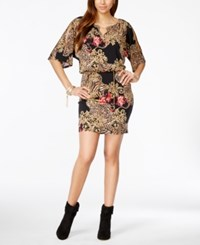 Thalia Sodi Printed Hardware Cold Shoulder Blouson Dress Only At Macy's