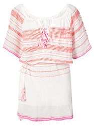 Lemlem Tiki Drawstring Cover Up White