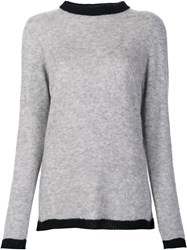 The Elder Statesman Long Sweater Grey