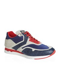 Stefano Ricci Olympia Panelled Sneakers Male Blue