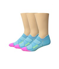 Feetures Elite Ultra Light No Show Tab 3 Pair Pack Sky Blue Reflector No Show Socks Shoes
