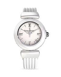 Charriol Ael Round Steel Watch 33Mm White