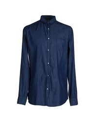 Individual Denim Denim Shirts Men Blue
