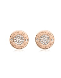 Michael Kors Heritage Pave Stud Earrings Rose Gold