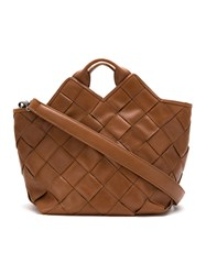 Mara Mac Leather Tote Bag Brown
