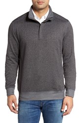 Tommy Bahama Men's Pro Formance Quarter Zip Sweater Coal Heather