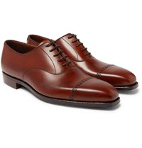 George Cleverley Charles Cap Toe Full Grain Leather Oxford Shoes Brown