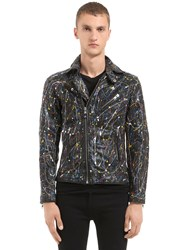 Htc Hollywood Trading Company Hand Painted Leather Biker Jacket