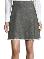 Saks Fifth Avenue Marl A Line Skirt Marled Grey