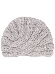 Eugenia Kim Fitted Knitted Hat Grey