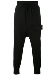 Odeur Drop Crotch Sweatpants Unisex Cotton S Black