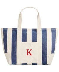 Cathy's Concepts Personalized Navy Striped Canvas Tote K