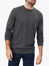 Joules Jarvis Cotton Crew Neck Jumper Grey Marl